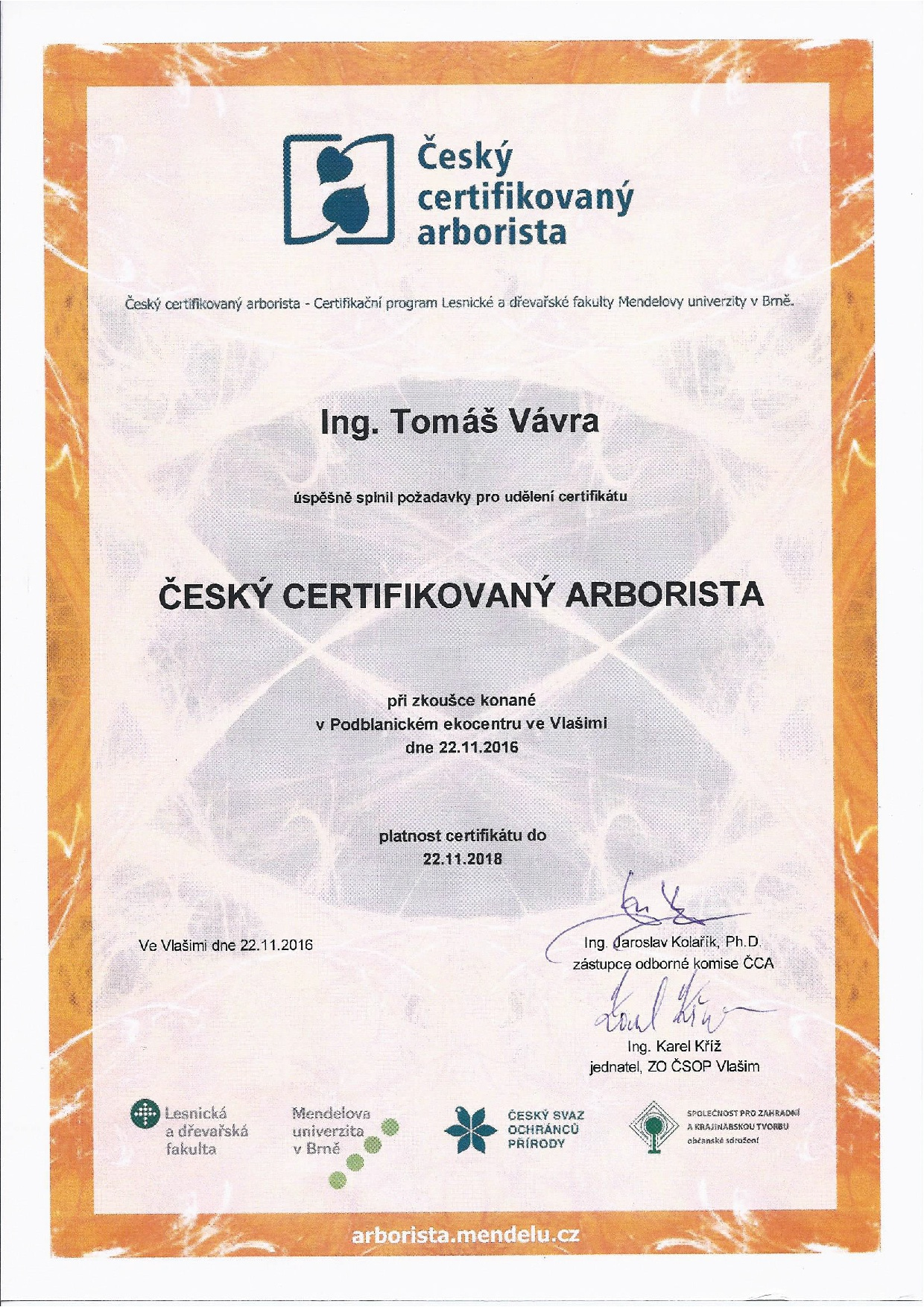 český certifikovaný arborista