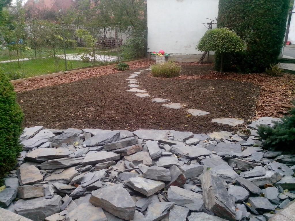 rekonstrukce zahrady v Kroměříži