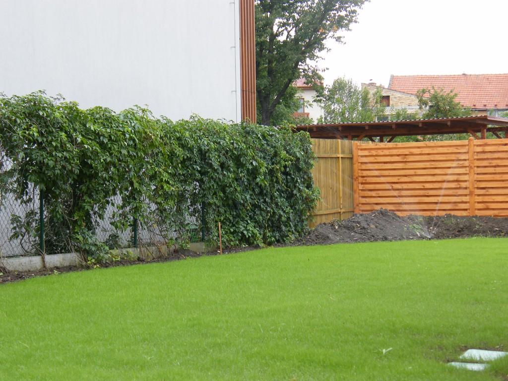 založení trávníku s automatickou závlahou v Kroměříži