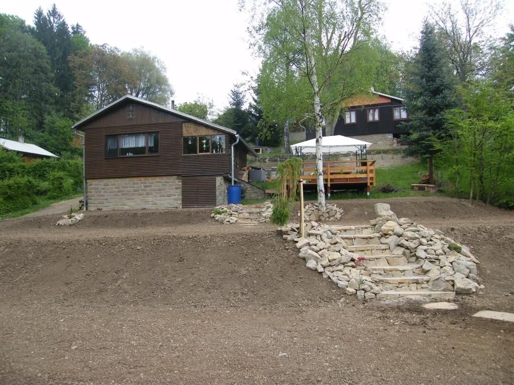 zahrada v obci Rusava